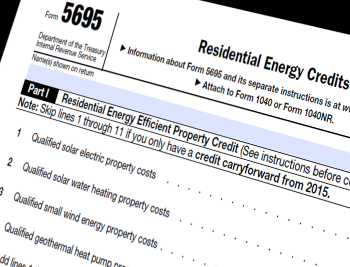 Form 5695 Residential Energy Credits