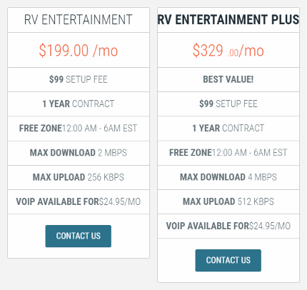 RVDataSat 840 Entertainment Plans
