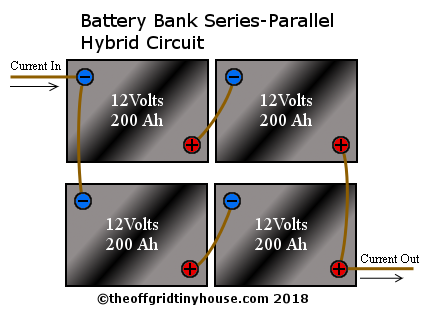 Batteries in Series-Parallel Circuit