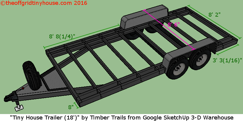 Deck Between Trailer Wheels Cut Into Frame