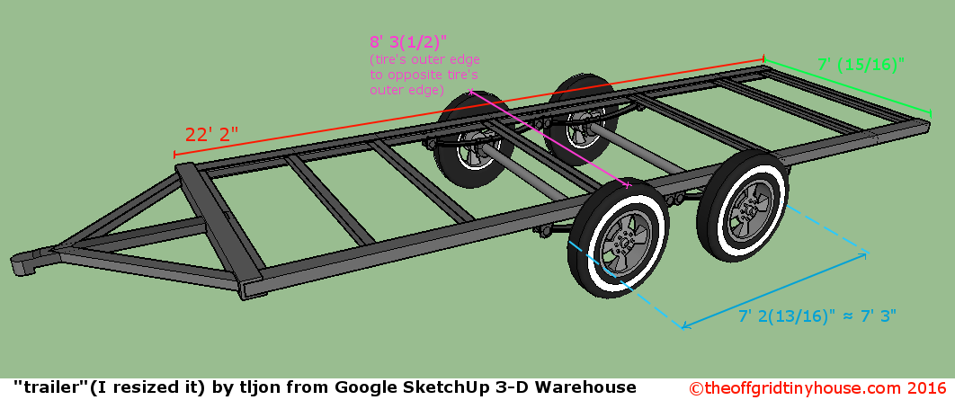 Deck Between Trailer with Wheels Outside Frame