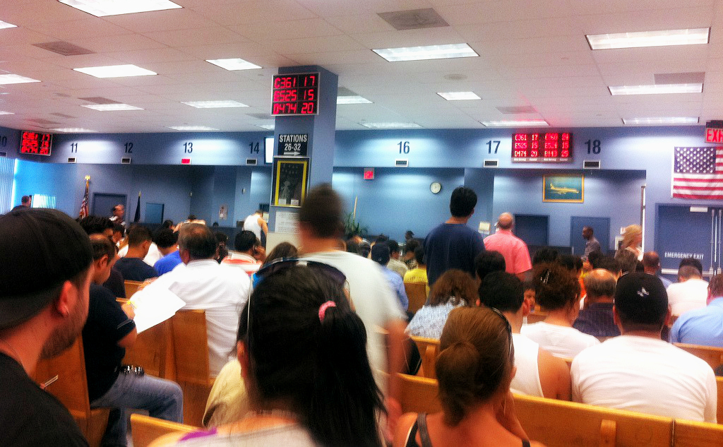 Waiting at Queens DMV for Trailer Registration